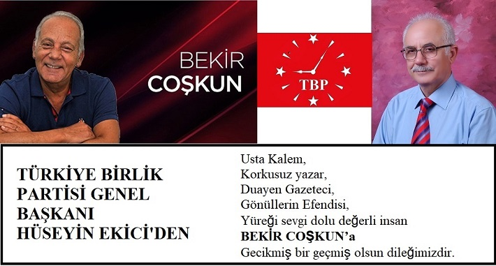 Türkiye Birlik Partisi Genel Başkanı Hüseyin Ekici'den